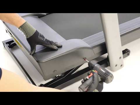 How to change the high motor cover on a T540A treadmill ?
