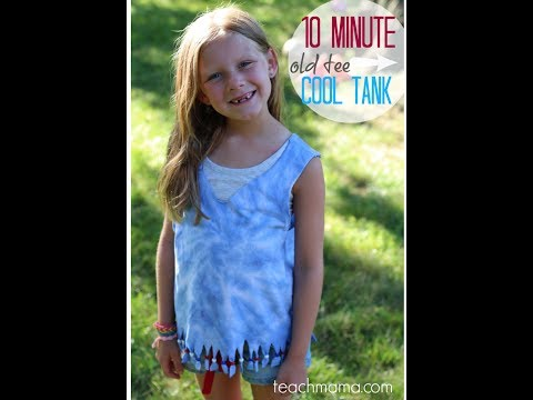 how to make a cool tank top out of a t-shirt | crafts | teachmama.com