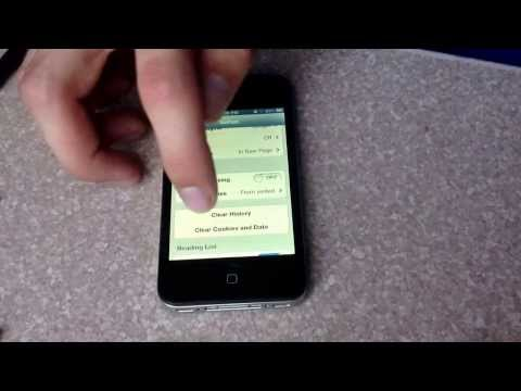 How to Clear web history on a iPhone 4S