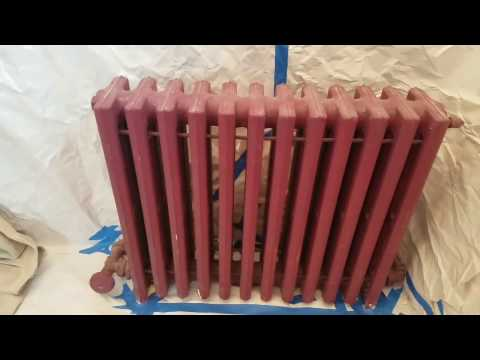 How to paint an attached radiator