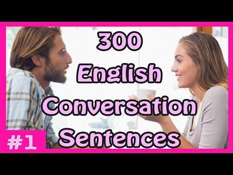 300 conversations sentences - Video #1- Hi, Emotions,