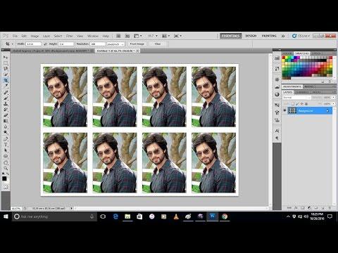 How to make passport size photo  in photoshop cs5| Photoshop Tutorials
