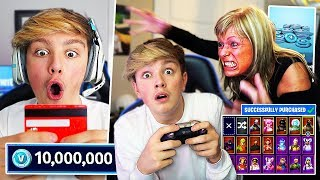 Kid Spends $750 on Fortnite Season 4 with Mom's Credit Card... [MUST WATCH]