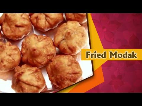 Fried Modak Recipe In Marathi (तळलेले मोदक) - Ganesh Chaturthi Special - Indian Recipe