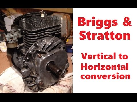 Briggs & Stratton vertical to horizontal conversion for go kart or mini bike