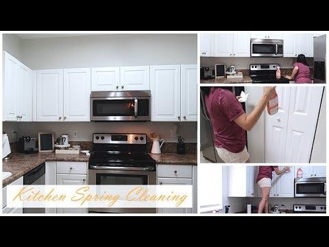 KITCHEN SPRING CLEANING 2018 | KITCHEN DEEP CLEAN