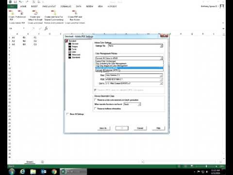 Microsoft Excel 2013   Acrobat Ribbon