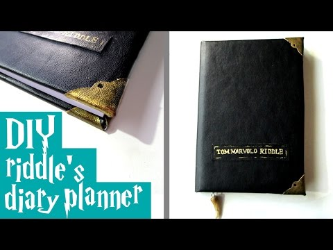 DIY  riddle's diary planner - Harry Potter tutorial