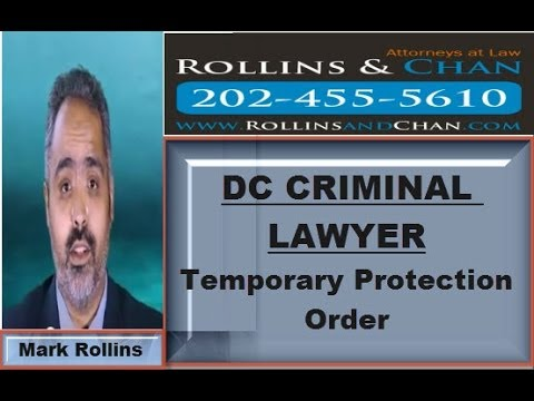 DC Lawyer explains Temporary Protective Order