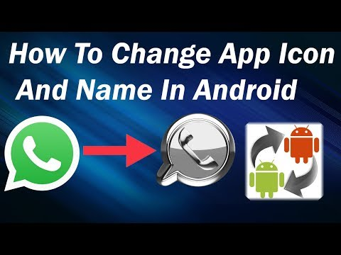how to change app icon and name on android Urdu Hindi