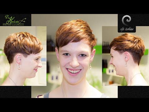 medium wavy hair to short pixie haircut |extreme makeover by jacky @ die haarschneiderei