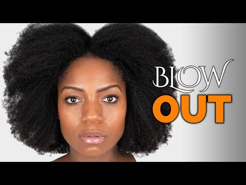 Blow Drying Natural Hair For The First Time (My Experience) (4B/4C Hair)