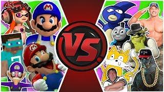 MLG and YOUTUBE POOP vs ILLUMINATI! FINAL FACE-OFF! Cartoon Fight