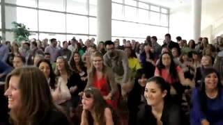Bush School Students Surprise President Bush with Flash Mob at Texas A&M University