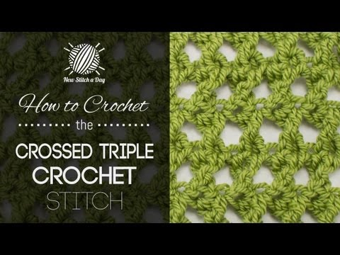 How to Crochet the Crossed Triple Crochet