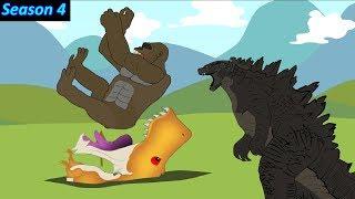 Godzilla - King Kong vs Dinosaur #3 | Funny Cartoon Movie Animation | Godzilla Cartoon