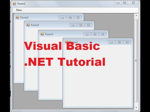 Visual Basic .NET Tutorial 54 -How to use Multiple-Document Interface (MDI) in VB.NET