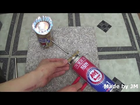 Emergency Butane Gas Burner - Do not try this at home