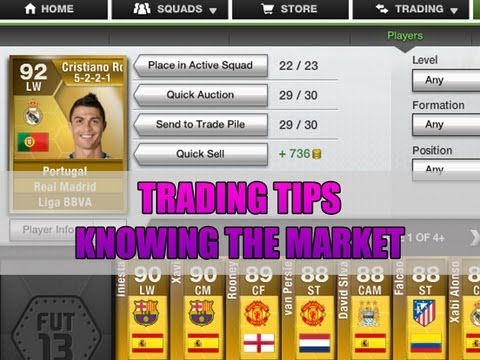 FIFA 13 Ultimate Team - Trading Tip - Knowing The Market (Trading with low coins)