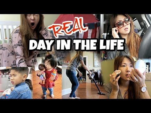 A DAY IN THE LIFE 😱 GET READY IN 3 MINS, KOREAN BBQ 😋 A FULL DAY WITH A BABY + A TODDLER ❤️ CHARIS