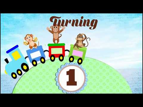 Whatsapp Baby Birthday Invitation- Little Monkey Theme