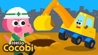 🚧 Let's Go Excavator | Car Songs | Excavator Song | Learning Vehicles | Kids Songs | Hello Cocobi