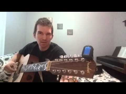 How to tune a 12 string acoustic guitar