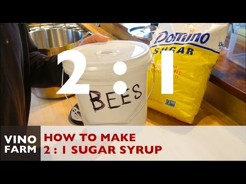 How to Mix 2:1 Sugar Syrup for Feeding Bees