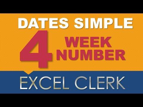 Excel Dates 4 week number