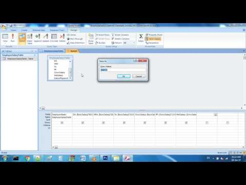 Employee Salary Calculation By Query In MS Access 2007