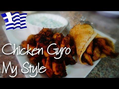 Chicken Gyro & Tzatziki Sauce