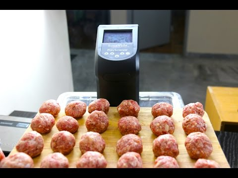 How to make Sous Vide Meatballs