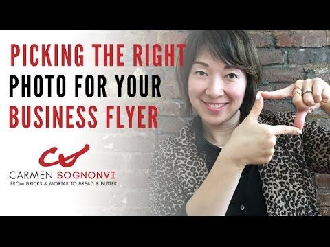 Making Flyers: How to Pick the Right Photo | Carmen Sognonvi