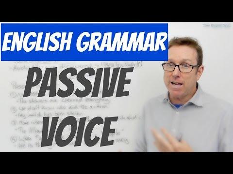 English grammar lesson - The passive voice , voz pasiva en inglés