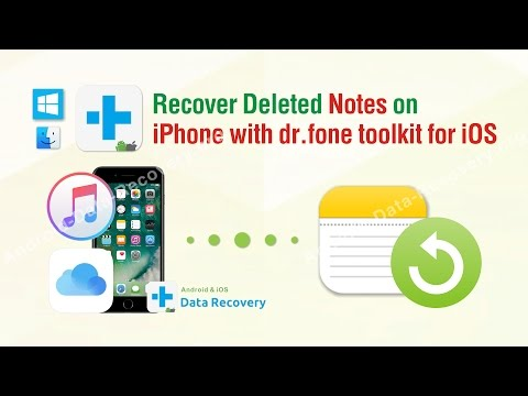 How to Recover Deleted Notes on iPhone with dr.fone toolkit for iOS
