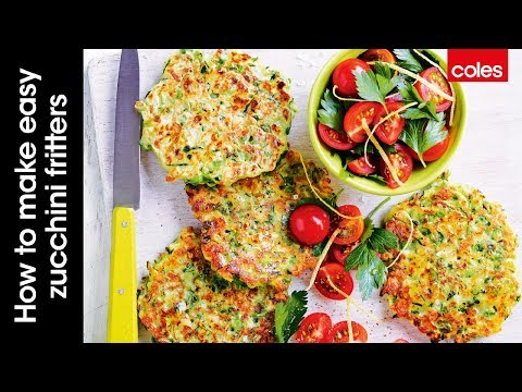 How to make easy zucchini fritters