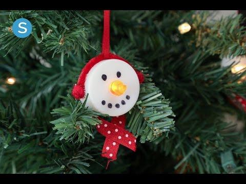 Tea Light Snowmen Ornament DIY Holiday Craft | Simplemost