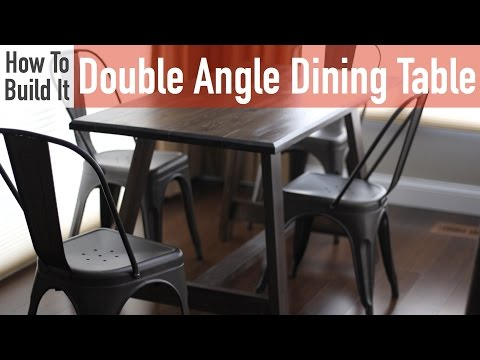 Double Angle Dining Table