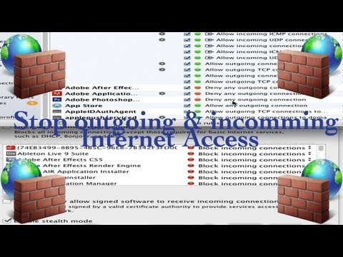 How To Block A Program Form Accessing the Internet  -Mac outgoing and incoming