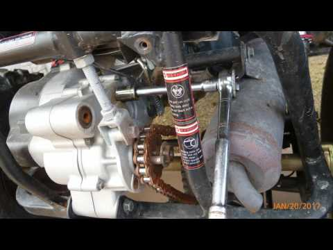 Motor and Transmission Oil change on GY6 clone