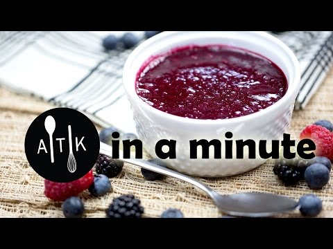 Amoretti in a Minute - Mixed Berry Sauce