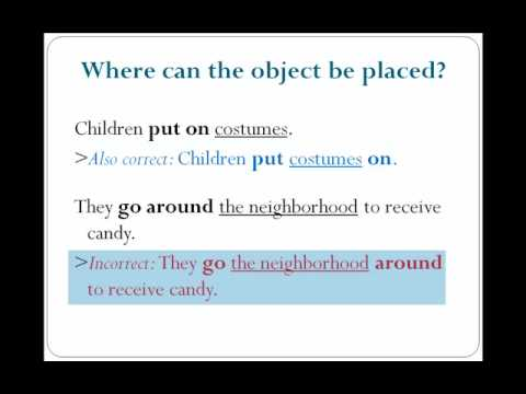 Phrasal Verbs (Structure) - Lesson 18 - English Grammar