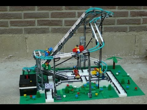 Working LEGO Roller Coaster!