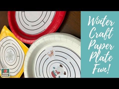 Winter Craft Paper Plate Fun