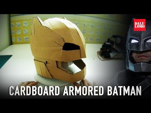Make Armored Batman Helmet Part 1 - Cardboard (free PDF) // Costume How to