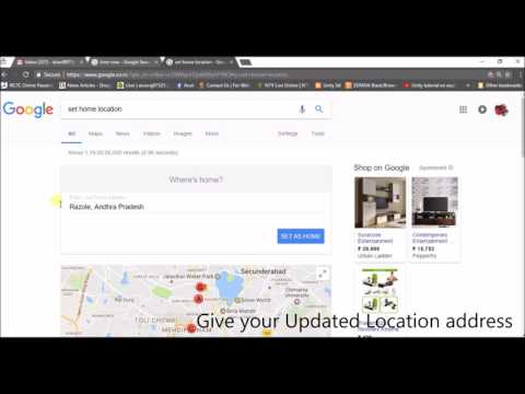 how to change google location settings ,update my location