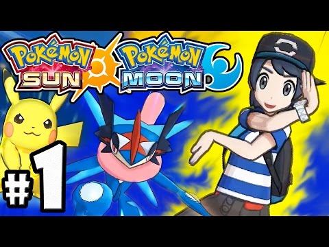 Pokemon Sun and Moon Demo PART 1 - Nintendo 3DS Gameplay - Ash-Greninja, Pikachu Z-Move, Team Skull