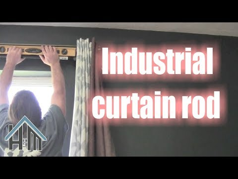 How to install industrial curtain rods. Easy! Home Mender.