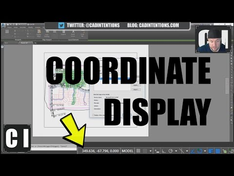 AutoCAD; How to Display Coordinates and other Settings