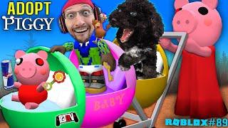 PIGGY ADOPT ME!!  w/ ROBLOX Gurkey Turkey & my Dog OLLIE = BAD IDEA! (#89)